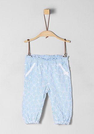 Pantalon en coton animé de broderies de s.Oliver