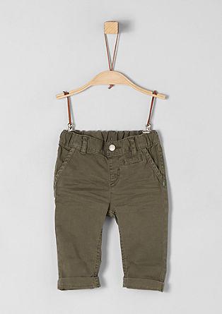 Bavlněné kalhoty se vzhledem chino