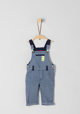 Lightweight dungarees with neon details from s.Oliver