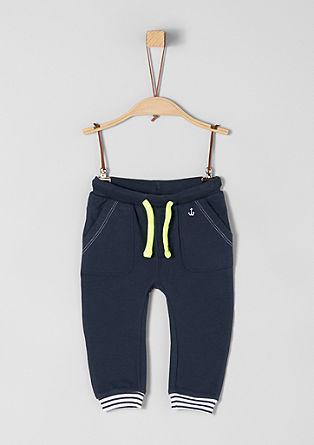Joggingové kalhoty sneonovou šňůrkou