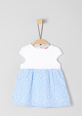 Playful dress with cotton lace from s.Oliver
