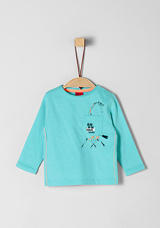 Long sleeve top with an animal motif from s.Oliver