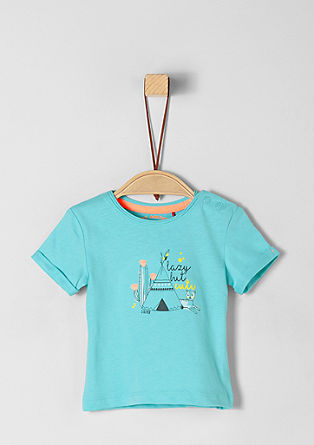 Cotton T-shirt with artwork from s.Oliver