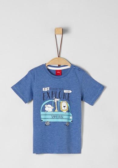 Jerseyshirt mit Safari-Print