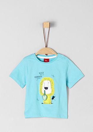 Jerseyshirt mit Löwen-Artwork