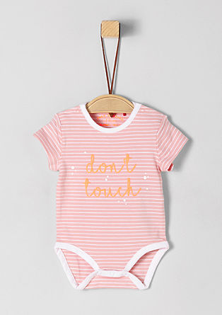 Short sleeve cotton jersey bodysuit from s.Oliver