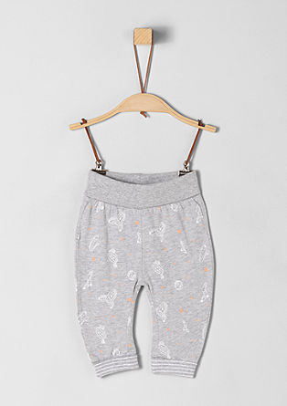 Jersey trousers with a printed pattern from s.Oliver