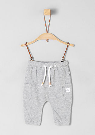 Slub jersey trousers from s.Oliver