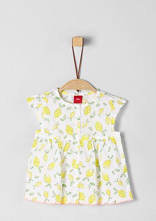 Bluza iz batista s potiskom limon