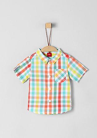 Geruit overhemd met korte mouwen