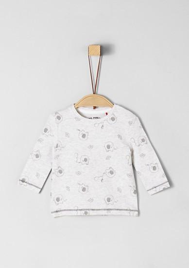 Langarmshirt mit Allover-Print