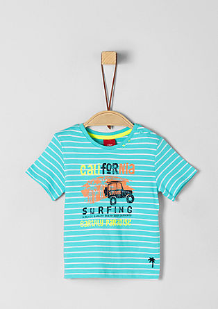 Gestreept shirt met holiday print