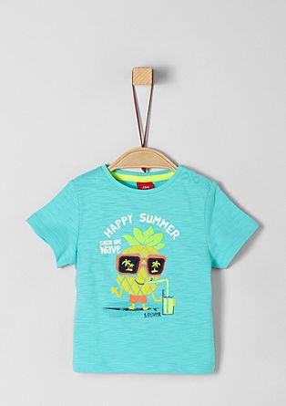 Shirt van slubgaren met 3D-artwork