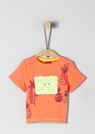 Slub yarn T-shirt with artwork from s.Oliver