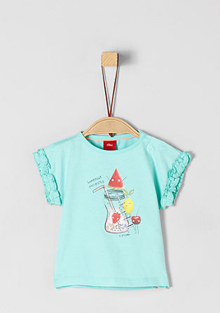 Jerseyshirt mit Glitzer-Artwork