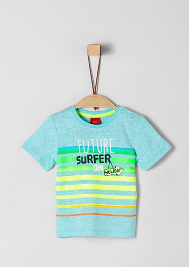 T-Shirt mit Neonstreifen