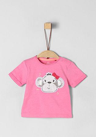 T-shirt met apenpatch