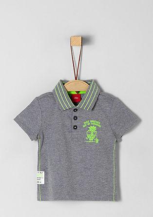Poloshirt mit Neon-Details