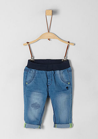 Soft jeans with embroidery from s.Oliver