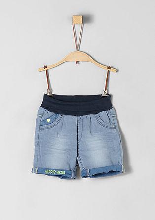 denimové šortky s pohodlným pasem
