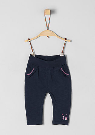 Jersey trousers with a comfy waistband from s.Oliver