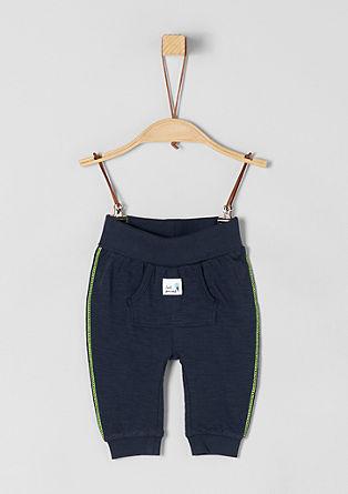 Jersey broek met neonkleurige naden