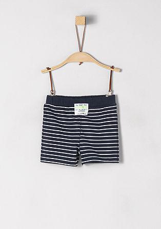 Jersey short in een gestreepte look
