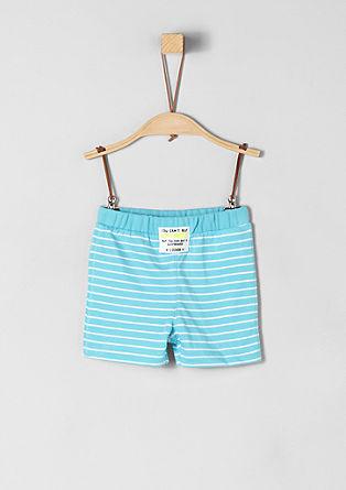 Kratke hlače iz džersija črtastega videza