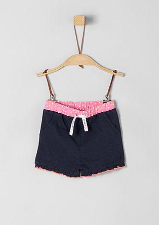 Gerüschte Jersey Shorts