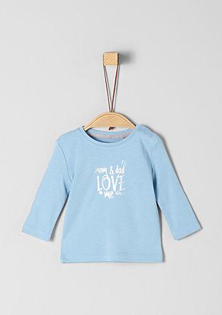 Langarmshirt mit Metallic-Print