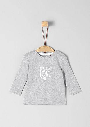 T-shirt à manches longues et imprimé métallisé de s.Oliver