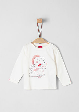 Long sleeve top with artwork from s.Oliver