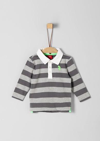 Poloshirt aus Baumwolljersey