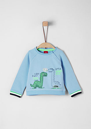 Sweatshirt mit Dino-Applikation