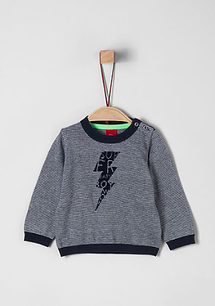 Knit jumper with artwork from s.Oliver