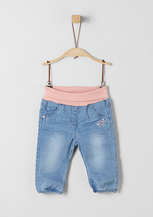 Jeans with a turn-down waistband from s.Oliver