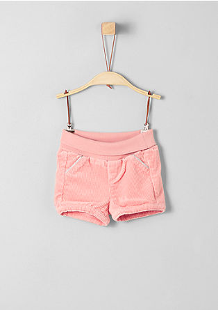 Corduroy shorts with a turn-down waistband from s.Oliver