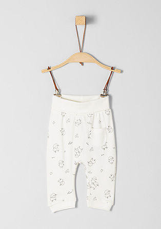 Jersey broek met print all-over