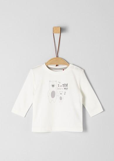 Tričko s dlouhým rukávem s potiskem vpředu
