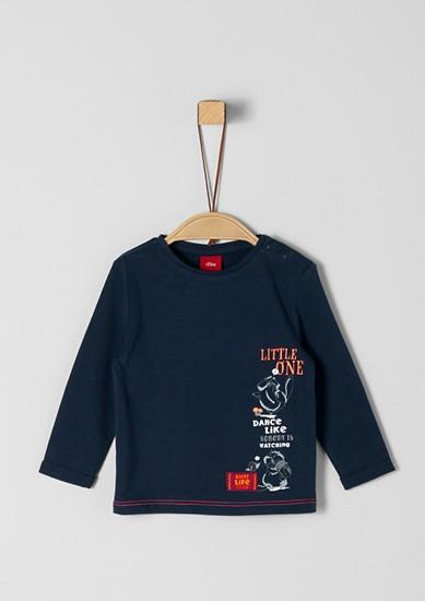 T-shirt manches longues à motif artistique de s.Oliver