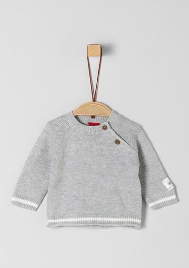 Raglánový pulovr z ploché pleteniny
