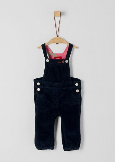 kalhoty s laclem ze strečového manšestru