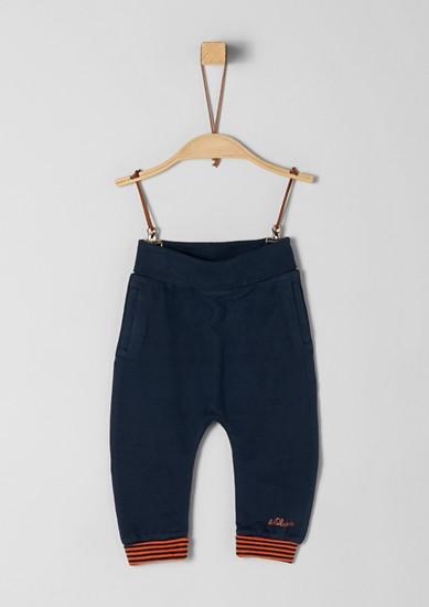 Joggingové kalhoty spruhovanými náplety