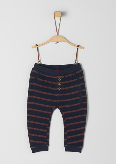 Tracksuit bottoms with woven pattern from s.Oliver