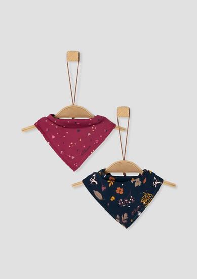 Set van 2 sjaaltjes met drukknoop