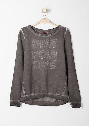 Sweater mit Glitzer-Stitching
