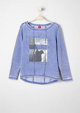 Sweatshirt mit Print-Collage
