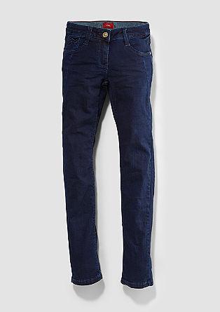 Suri: Dunkelblaue Stretch-Jeans