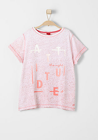 Dip Dye-Shirt mit Struktur