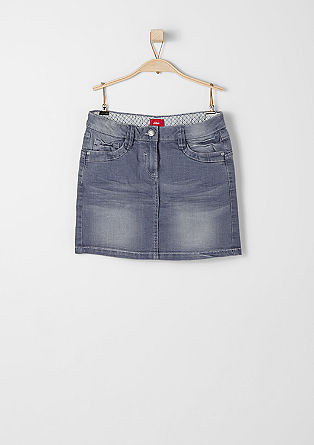 Denim mini skirt in a vintage finish from s.Oliver